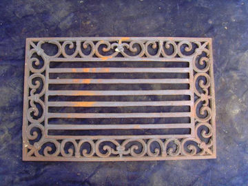 Rectangle Cast Iron Outdoor Doormats Untuk Natal Unik Non - Slip